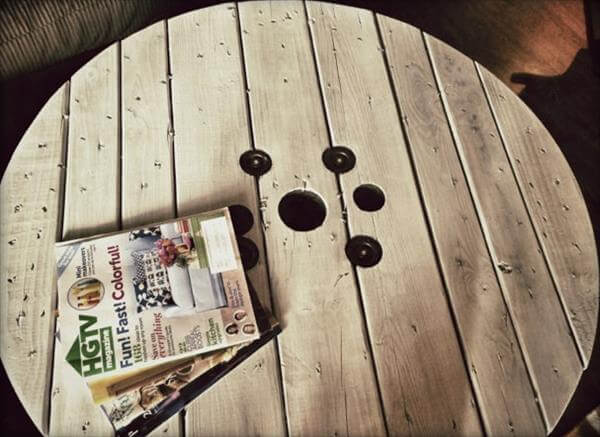 table basse diy cable drum