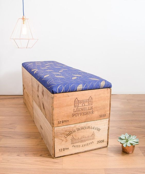 Extra large wooden blanket box chest for bedroom storage
